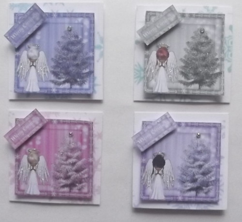 P4 Christmas Angels for Cards & Crafts