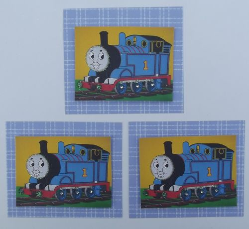Pk 3 Thomas the Tank Toppers for Cards & Crafts