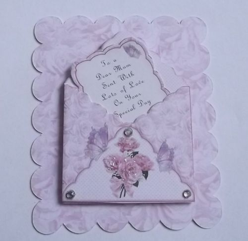 Pk 2 Envelope & notelets Mothers Day Toppers