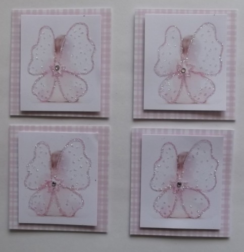 Pk 4 Fairy Angel Toppers for Cards & Crafts