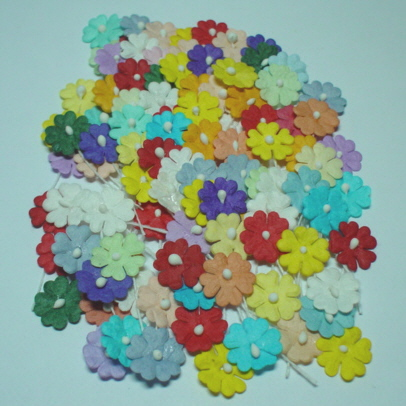 100 Multi-colour flowers