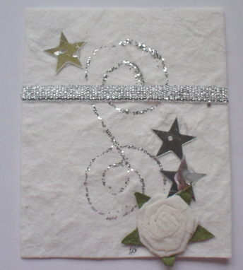 White Rose & Silver Star Topper