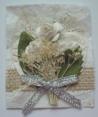 White Rose Bouquet Topper