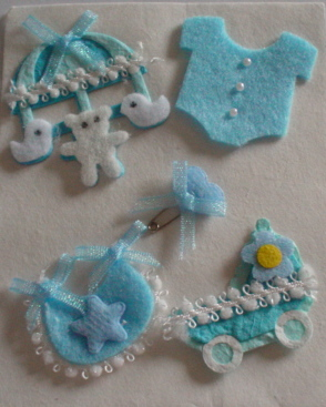Baby Boy Embellishment Set