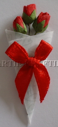 3d Vellum Bouquet - Red