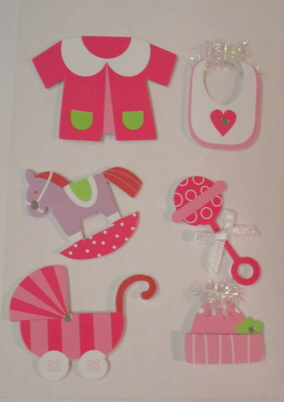 3d  Embellishments - Pink Baby Girl