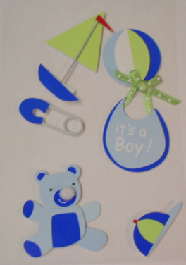 3d  Embellishments - Blue Baby Boy