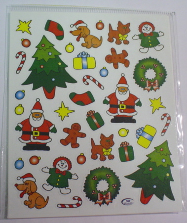 2 Sheets Christmas Time Stickers