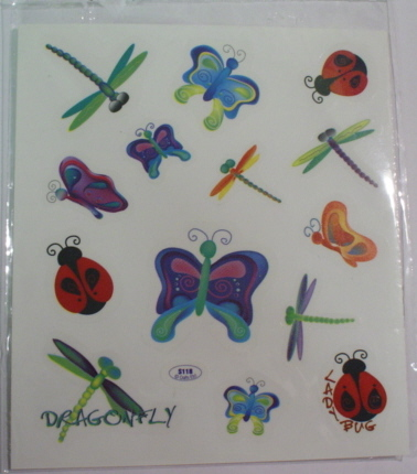 2 Sheets Bugs & Bees Stickers