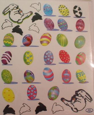 2 Sheets Easter Eggs Stickers