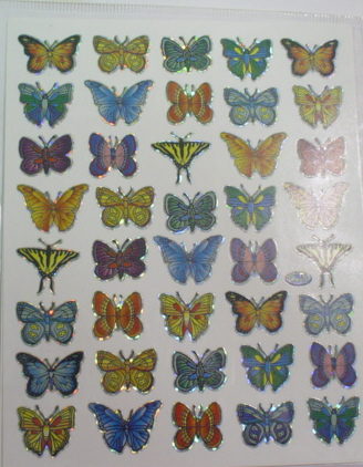 2 Sheets Butterfly Stickers