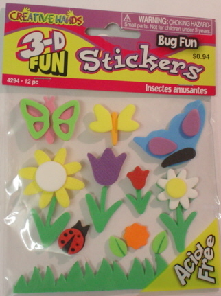 3d Foam Embellishments - Bug Fun