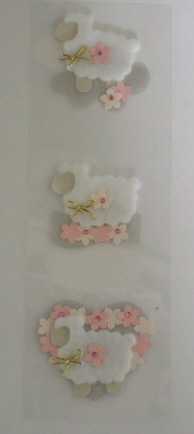 Fairy Land 3D Stickers -Baby Lambs