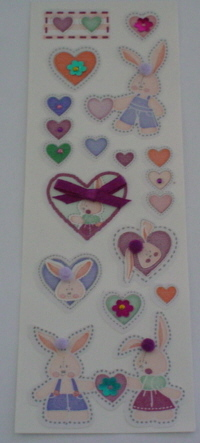 Fairy Land 3D Stickers -Rabbits