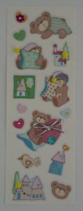 Fairy Land 3D Stickers -Bears
