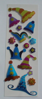 Fairy Land 3D Stickers -Foil Party Hats