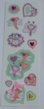 Fairy Land 3D Stickers -Cutie Bugs