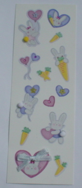 Fairy Land 3D Stickers -Bunnies at Play