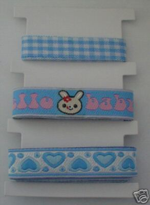 Baby Blue Ribbons / Braids Set