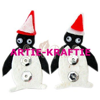 5 Buddy Black Christmas Penguins