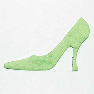 Approx 50 Green Die Cut Shoes