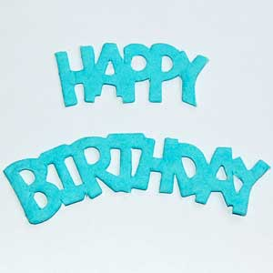 10 Sets Happy Birthday Die Cuts - Blue