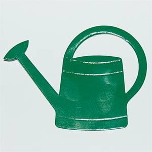 10 Green Watering Can Die Cuts