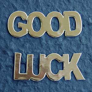 10 Sets Good Luck Die Cuts - Silver