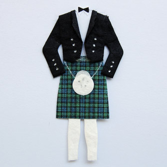 3 Classic Scottish Formal Wear - Green