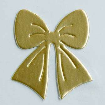 25 Gold Bow Die Cuts