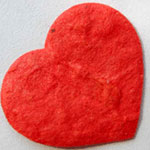 100 Red Mulberry Paper Hearts