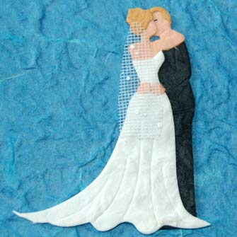 2 The Wedding Couples Kiss Die Cuts