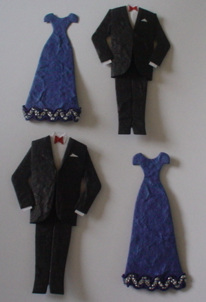 Pair of Tux & Navy Evening Dresses
