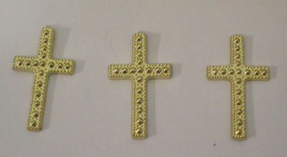 3 Gold Crosses