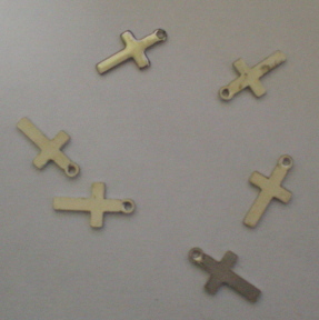 5 Tiny Silver Crosses