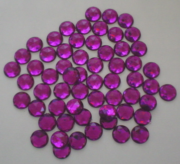Round Purple Gems