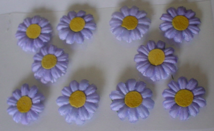 10 Daisy Flower Heads  Lilac