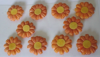 10 Daisy Flower Heads Peach