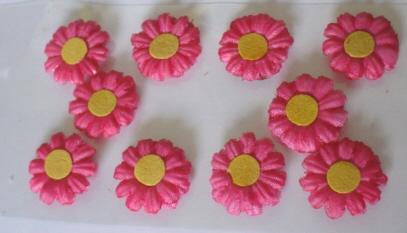 10 Daisy Flower Heads Cerise