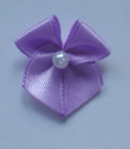 10 Single Pearl Bow - Lilac