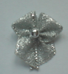 10 Single Pearl Bow - Silver
