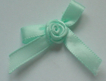 10 Single Bud Bows - Mint Green