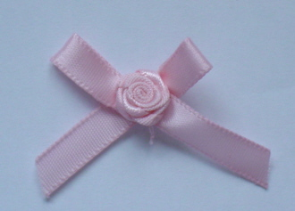 10 Single Bud Bows - Pink