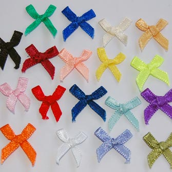 25 Mixed Colour Bows For Cards or Crafts