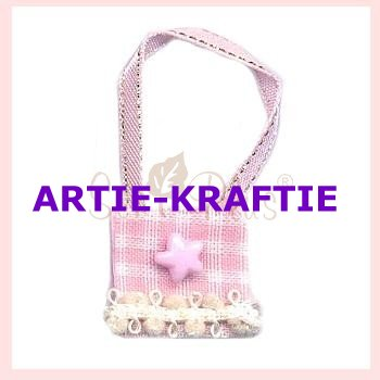 Mini Pink Gingham bag with Pink Star