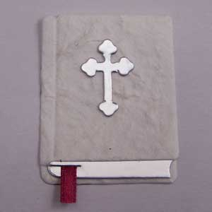 3 Die Cut White Holy Bibles