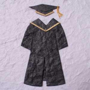 Pk 3 Gold Graduation Gowns for Cards and Craft