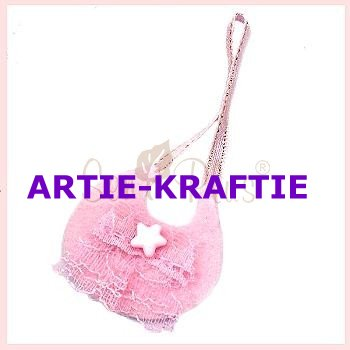Pink felt bag with Star