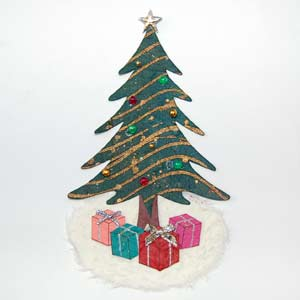 Gold Trim Christmas Tree Toppper