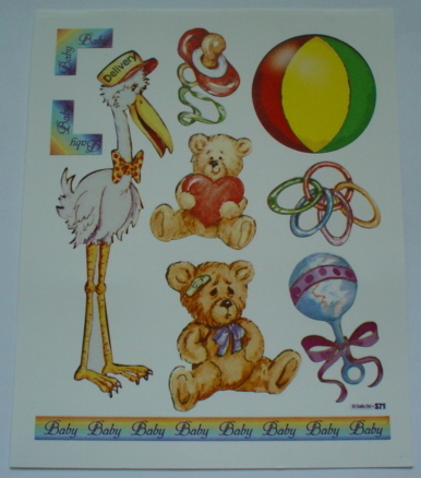 2 Sheets Baby Toys Stickers